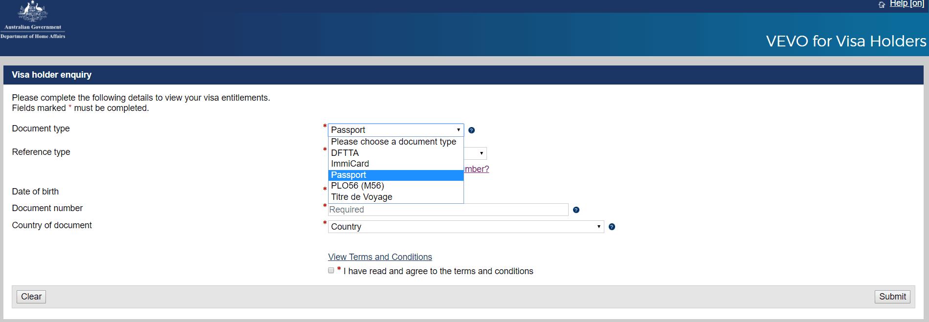 VEVO | Australia Visa Check | My Access Australia